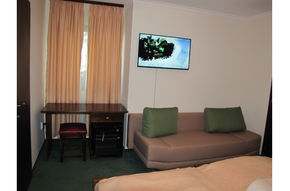 Triple room (No. 1), with two beds, pull-out sofa bed and private bathroom