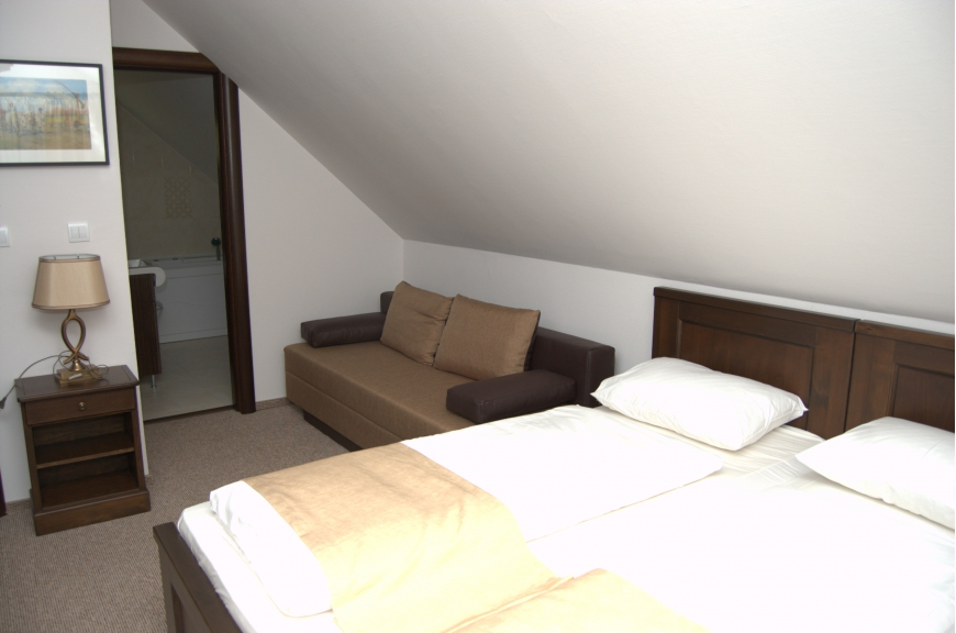CAMERA NR.7 - camera tripla (2 locuri + canapea extensibila) cu baie proprie + jacuzzi